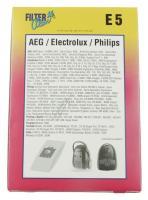 STAUBBEUTEL FÜR PROGRESS/ELECTROLUX/PHILIPS, 5 STÜCK (ersetzt: #697652 E203B  4 SBAG ANTI ODOUR IN BOX)