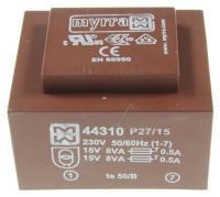 15vx2-533ma  Printtrafo Ei54 16va 230v - 47,5x56,5mm