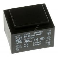 12vx2-79ma  Printtrafo 230v Ei30 1,9va 32,5x27,5x23,8mm