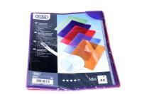 +sichthülle 10stück, Farbig Sortiert Pvc 0,15mm