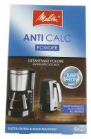 Afkalker Pulverform Til Kaffemaskiner, 6x 20 Gr