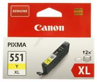 CANON Cli-551y Xl Canon Blækpatron 11ml Gul Ip7250/ Mg5450/ Mg6350