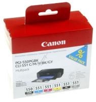 CANON Pgi550xl/cli551 Blækpatron, Multipack Til Canon, Cmykgy