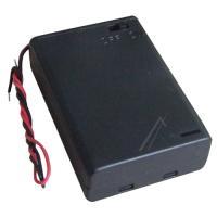 Batteriholder 3x Mignon, Aa Tilslutningskabel (+ Låg)